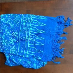 Other - Blue sarong with tassels